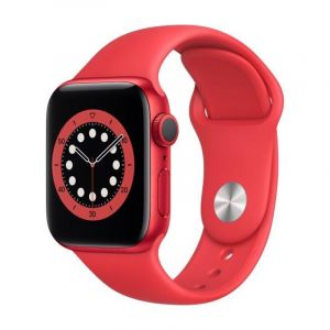 Apple Watch Series 6 GPS, 40mm PRODUCT(RED) Aluminium Case with PRODUCT(RED) Sport Band - Regular - M00A3AE/A