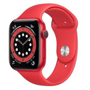 Apple Watch Series 6 GPS, 44mm PRODUCT(RED) Aluminium Case with PRODUCT(RED) Sport Band - Regular - M00M3AE/A