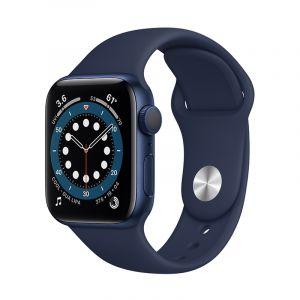 آبل ساعة سيريس 6 مقاس 40 مل مع خاصية الاتصال , جي بي إس , اطار ألمونيوم , ازرق - M06Q3AE/A