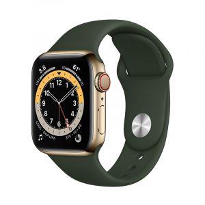 آبل ساعة سيريس 6 مقاس 40 مل مع خاصية الاتصال , جي بي إس , اطار استيل, ذهبي ستيل - M06V3AE/A
