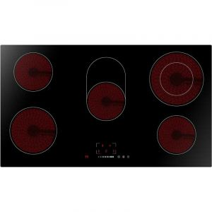 Midea Elertic Stone Hob 90 cm, 4 Burner, 9 Temperature Level ,Black - MCHV848