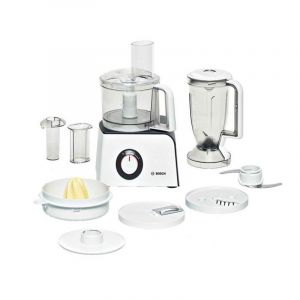 Bosch Compact Food Processor with juice blender, 800 W, Europe Industry, White - MCM4100GB