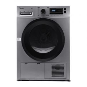 Midea Tumble Dryer Front Load, 8 Kg ,Condensor Dryier ,China , Steel - MDG80CS