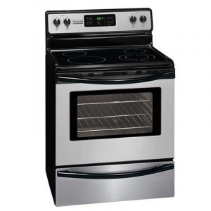 Gibson Electric Oven 60x70 cm , 4 Burners, Ceramic, 136 L , Black - MFF3026RS