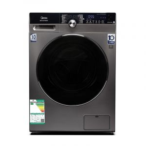 Midea Washing Machine Front Load ,10 kg, Drying 100 % ,Inverter, Steam SpaCare ,14 Program, Steel - MFK1070WDS