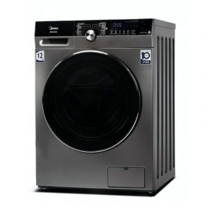 Midea Washing Machine Front load 12kg , Drying 8 kg 100 % ,16 Program, Steel - MFK1280WDS