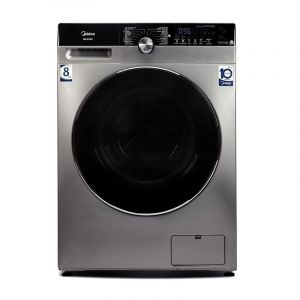 Midea Washing Machine Front load 8kg , Drying 75 % ,16 Program, Steel - MFK80S