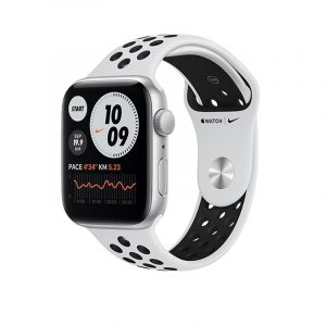 Apple Watch Nike Series 6 GPS, 44mm Silver Aluminium Case with Pure Platinum/Black Nike Sport Band - Regular - MG293AEA