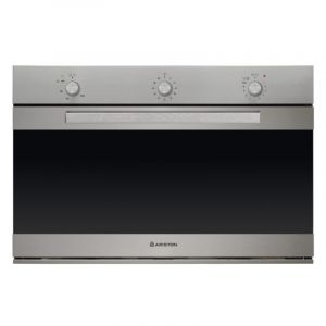 ARISTON OVEN Built In , 90 cm, Gas Auto Ignition, Grill , Double Door Glass, Steel - MHG521IX