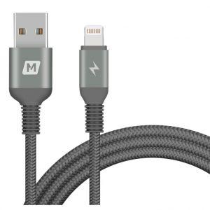 MOMAX Elite Lightning Cable ,Triple-Braided,1.2m,Black - DL11D