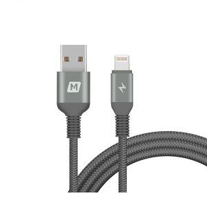 MOMAX Elite Lightning Cable ,Triple-Braided,2.0m,Black - DL13D