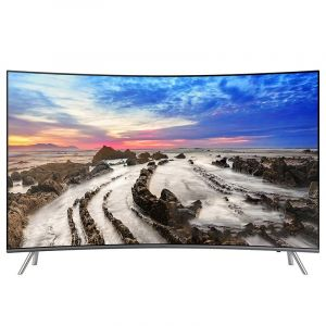 "SAMSUNG Curved TV 65"", 4K Premium UHD ,Smart ,HDR,Silver - UA65MU8500RXUM"