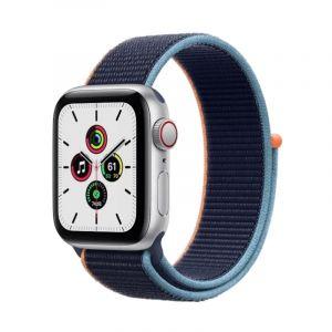 آبل ساعة سيريس إس إي مقاس 40 مل مع خاصية الاتصال , جي بي إس , اطار ألمونيوم ازرق , فضي - MYEG2AE/A