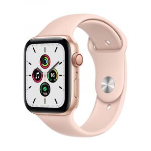 Apple Watch SE GPS + Cellular, 40mm Gold Aluminium Case with Pink Sand Sport Band - Regular - MYEH2AE/A