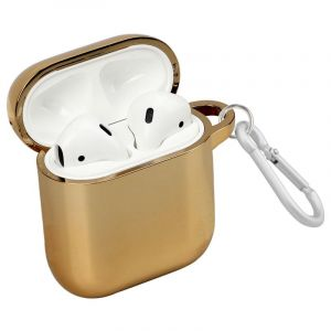 Promate Shockproof Protective Case for Airpods , Gold - NEONCASE.GOLD