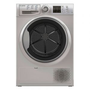 Ariston Dryer Front Load , Condensor, 8 Kg ,Silver - NTCM108BS