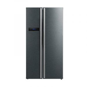 Panasonic Side by Side Refrigerator , 18 F, Silver - NR-BS700MSSA - Blackbox