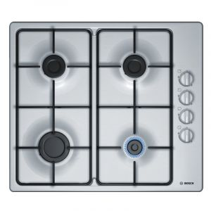 Bosch Built-In Gas Hob 60 cm , 4 Burner, Steel - PBP6C5B89M