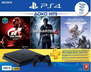 PlayStation 4 500GB with 3 Games,PS Plus 90 Days Subscription