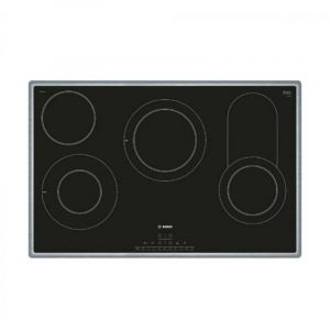 Bosch Built-In Ceramic Electric Hob 80 cm ,5 Burners, Electronic Display, Black - PKC845FP1M