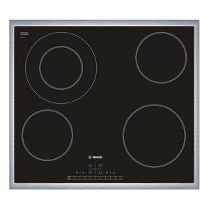 Bosch Electric Hob 60CM , PKF645K17Q , Built in , 4 Burners , Black
