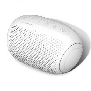 ال جي اكس بوم مكبر صوت متنقل, بلوتوث, تقنية ميريديان, 10 ساعات عمل ,أبيض - PL2W