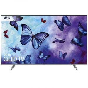 Samsung Flat QLED TV 55 inch , 4K , Smart , HDR , Silver - QA55Q6FNARXUM