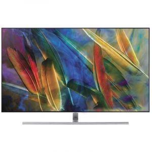 SAMSUNG QLED TV 65 inch ,Flat ,4K ,Smart, HDR , Silver - QA65Q7FNARXUM