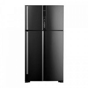 Hitachi Refrigerator Double Door, 21.20 ft, 600 L, Thailand , Black - R-V805PS1KV