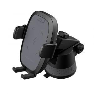 راف باور قاعدة سيارة للهواتف الذكية مع تقنية الشحن اللاسلكي بقوة 7.5/5/10 واط , لون اسود - RP-SH014 A