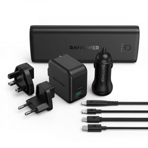 RAVPower 9-in-1 Pack Portable Charger Combo , Black - RP-PB193