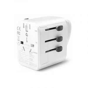 RavPower Travel Charger, 30W, 4 Ports, White - RP-PC099