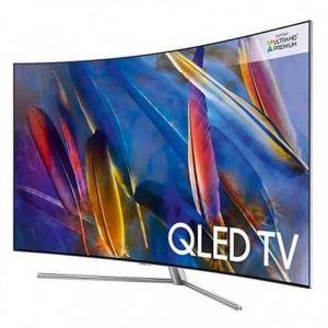 Samsung 55 Inch Curved Smart QLED TV, 4K Premium UHD,Black - QA55Q7CAMRXUM
