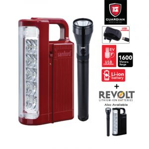 Sanford Combo 2 In 1 Rechargeable LED Search Light + Emergency Lantern - SF6352SEC BS