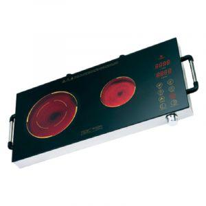 سانفورد طباخ كهربائي يعمل بالحث الكهربائي، عدد 2 شعلة بالأشعة تحت الحمراء، سيراميك، مناسب لكل أواني الطبخ، 2800 واط، اسود - SF5194IC