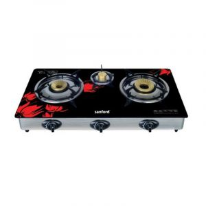 Sanford Gas Stove triple Burner , High Tempered Glass - SF5326GC