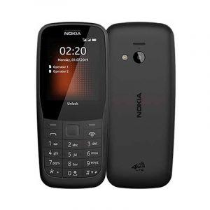 نوكيا 220 شريحتين اتصال, شاشة 2.4 بوصة, شبكة الجيل الثاني, ذاكرة 24 ميجابايت, رام 16 ميجابايت,اسود - TA1155