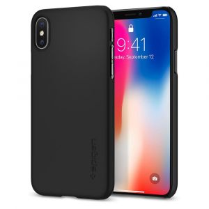 Spigen iPhone X Thin Fit Matte Black  - 057CS22108