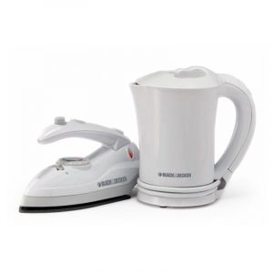 Black & Decker Travel Kit - Electric Kettle + Travel Iron (TR200JA + TR200TI), TK200-B5