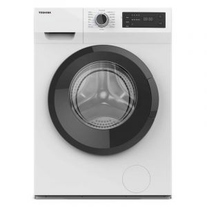 Toshiba Front Load Washer 8 KG , Dryer75%, 1200 RPM Real, Inverter, Digital Display, White -  TW-BH90S2BB