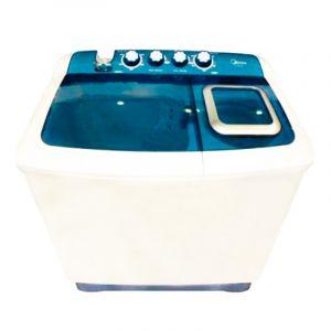 Midea Washing Machine, Twin Tub, 8 Kg, Dryer 4.6 Kg, White - TW80AD