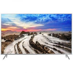 Samsung Flat TV 55 inch, 4K Premium UHD ,Smart ,HDR ,Silver - UA55MU8000RXUM