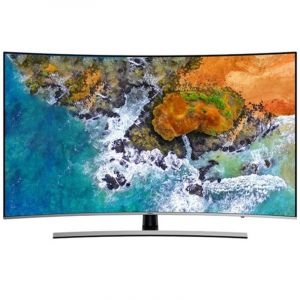 Samsung Curved TV 55 inch ,4K UHD Premium ,HDR ,Smart ,Black - UA55NU8500
