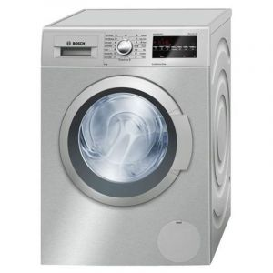 Bosch Automatic Washing Machine ,Front Load,Capacity 9 Kg ,Dry 75 %,1600 RPM ,Silver - WAT3248XSA