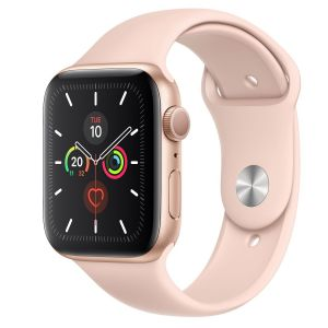 Apple Watch Series 5 , 44mm, Gold Aluminum Case with Pink Sport Band