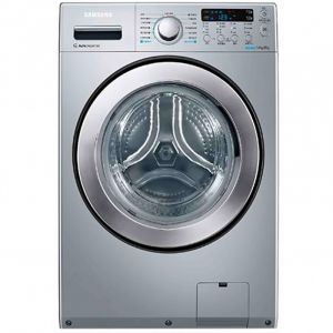 SAMSUNG  Washing Machine, Front Load, 14KG, Dryer 8KG, Dryer100% , Silver- WD14F5K5ASV1