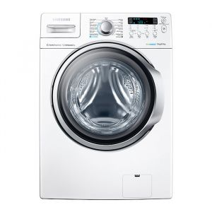 Auto Washing Machine by Samsung, Front Load, 15 Kg, White , WD15F7K5AGW
