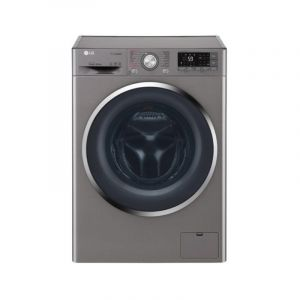 LG Washing Machine Automatic Front Load ,Capacity 9 Kg ,Wi-Fi ,Silver ,True Steam,Inverter Direct drive Motor - WFS0914XMN