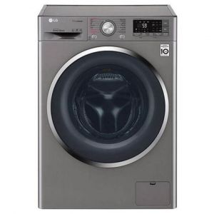 LG Washing Machine Automatic Front Load, Capacity 10.5 Kg ,Wi-Fi,Silver ,True Steam,Inverter Direct drive Motor- WFS1114XMN