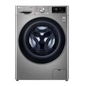 LG Washing Machine Front Load, 10.5 kg, Dry 75 % , 6 Motions, Silver/Steel - WFV1114XMT